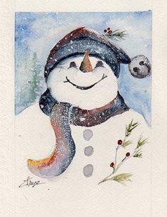 winter watercolors - Google Search