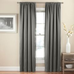 eclipse Thermapanel Room Darkening Curtain, Grey