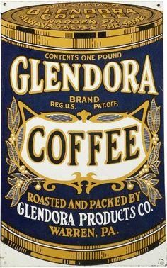 Glendora Coffee Tin Sign