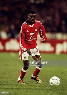 Sabry of Benfica in action during the Portugeuse Football Championships against Sporting Lisbon played at the Stadium of Light in Benfica Portugal...