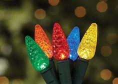 LED holiday lights.