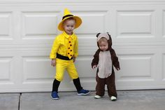 DIY Man with the Yellow Hat costume made with Rit Dye Lemon Yellow and Curious George Costume