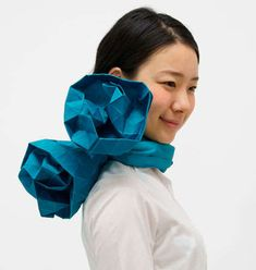 The Origami Scarf by Monomatopee is Perfect for Busy Fingers #design #creativity trendhunter.com