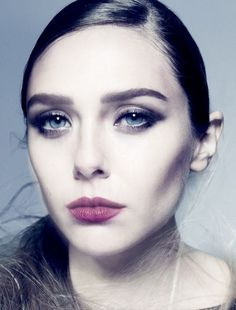 Elizabeth Olsen with berry lips #beauty #hair #makeup #lipstick #celebrity