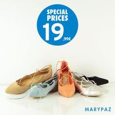 Conoce la tendencia de esta primavera: ¡ Las manoletinas Lace Up Shoes !  Compra ya tu manoletina favorita AHORA con nuestros SPECIAL PRICES ¡ Un precio muy especial que no podrás resistir !  Descubre las manoletinas atadas ¡Disponibles en 4 colores, elige la tuya ya!  Entra ya en marypaz.com o visita tu tienda MARYPAZ más cercana descubre la Nueva Colección Primavera / Verano 2016.  #shoesobssession    Compra ya ► http://www.marypaz.com/tienda-online/manoletina-de-punta-fina-con-cor