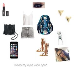 """""""Sideways"""" by dasia10000 ❤ liked on Polyvore featuring H&M, ki-ele and MAC Cosmetics"""
