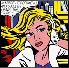 Roy Lichtenstein – M-Maybe he became ill and couldn't leave the studio! (1965)