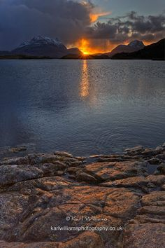Loch Sionasgaig at Sunrise, Scotland