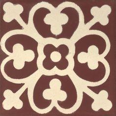 """Regal Clover-450 4"""" x 4"""" http://www.granadatile.com/echo_catalogue.php?t=4&n=163#tile  cement tile, concrete tile, encaustic tile #cementtile #cementtiles #concretetile #concretetiles #encaustictile #encaustictiles"""