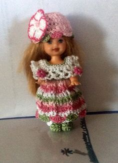 Crocheted Dress Fits The 4 1 2 Dolls Kelly Doll and Same Size   eBay