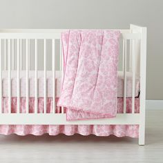 Dream Girl Crib Fitted Sheet (Pink Dot) | The Land of Nod