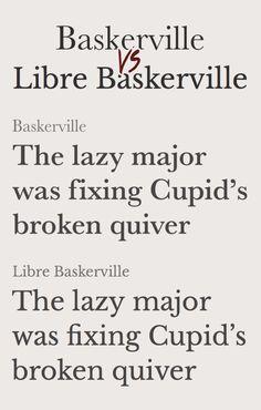 Baskerville vs Libre Baskerville