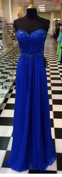 2016 Royal Blue bridesmaid dresses,Beaded Sweetheart Chiffon Prom Dress With Draped Bodice,beaded bridesmaid dresses.Chiffon bridesmaid dresses