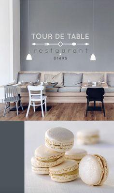 Création identité visuelle Restaurant TOUR DE TABLE. Branding, Tour, Table, Creations, Restaurant, Design, Furniture, Home Decor, Corporate Design