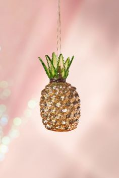 Glitter Pineapple Christmas Ornament | Urban Outfitters