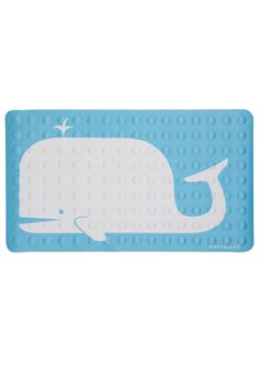 Sing and Spout Bath Mat by Kikkerland - Blue, Print with Animals, Dorm Decor, Nautical, White, Top Rated