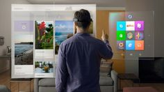 At today's Windows 10 event, Microsoft showed off an AR headset that makes it look like vi...
