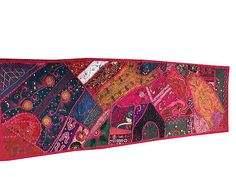 VINTAGE-HANDMADE-TABLE-RUNNER-PINK-EMBROIDERED-PATCHWORK-ETHNIC-INDIAN-DECOR  http://stores.ebay.com/mogulgallery/TABLE-RUNNERS-/_i.html?_fsub=353416619&_sid=3781319&_trksid=p4634.c0.m322