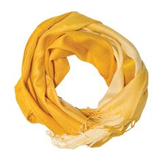 Yellow/Gold Ombre Pashmina Scarf from Mason's