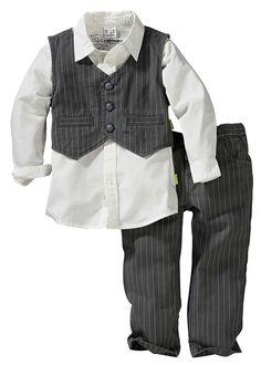 Koszula + kamizelka + spodnie (3 części) • 119.99 zł • bonprix