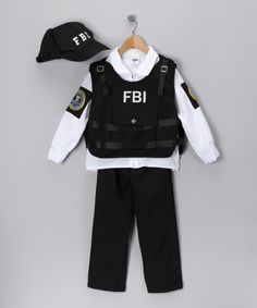 Look what I found on #zulily! Black FBI Agent Dress-Up Set - Kids by Dress Up America #zulilyfinds