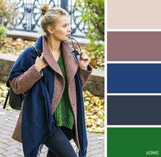 Сочитание глубокого синего и зеленого