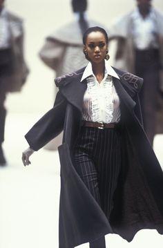 80s And 90s Fashion, Fashion 2020, Runway Fashion, High Fashion, Fashion Fashion, Black Supermodels, Original Supermodels, 90s Models, Runway Models