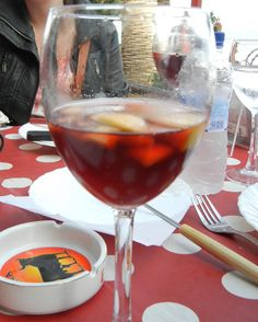 If you learn nothing else from this pinboard, learn this: Drink sangria. It's a delicious concoction of red wine, fresh fruit, and other liquors. You'll find variations all over Spain, in nearly every restaurant - especially in the summer.