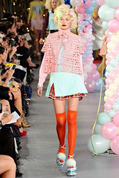 Meadham Kirchhoff Courtney Love, Chic Dress, Dress Up, Meadham Kirchhoff, Day Glow, Quirky Fashion, Orange Is The New Black, Costume Dress, Fashion Show