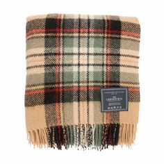 Johnstons of Elgin Camel Check Cheviot Tartan Rug  £45.00