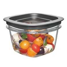 Rubbermaid Easy Find Lid Premier Food Storage Container 2cup FG7H75TRCHILI Grey 8Pack ** You can find out more details at the link of the image.
