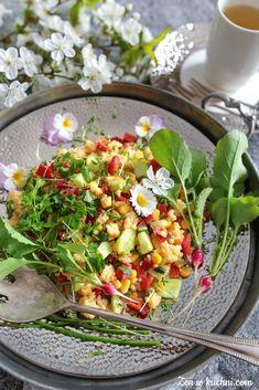 Wiosenna sałatka z kaszy jaglanej