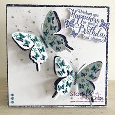 Dies by Chloe - Butterfly of Butterflies - - Dies By Chloe Butterfly Of Butterflies - Chloes Creative Cards Birthday Wishes, Birthday Cards, Chloes Creative Cards, Stamps By Chloe, Create And Craft Tv, Butterfly Project, Butterfly Cards, Pretty Cards, Clear Stamps