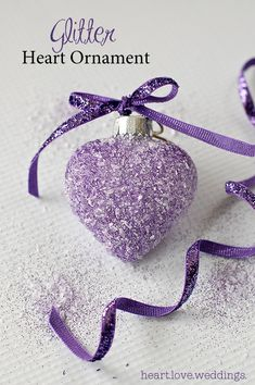 Create stunning glitter heart ornaments that will have everyone in awe this Christmas. All you need is glitter, epson salt and glue for this simple project.