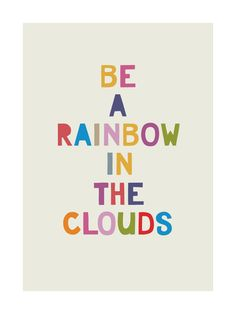 """""""Rainbow in a Cloud"""" - Grownup Open Edition Non-custom Art Print by Hanna Mac in beautiful frame options and a variety of sizes."""