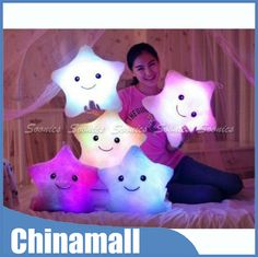 Cheap led pillow clock, Buy Quality pillow skin directly from China led light high power Suppliers: 																						  													Amazing LED Light Up Colorful Pillow Cushion Bear's Paw Heart Love Square Star