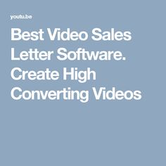 Best Video Sales Letter Software. Create High Converting Videos