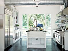 Great kitchen in Decorate by Holly Becker - smeg stove