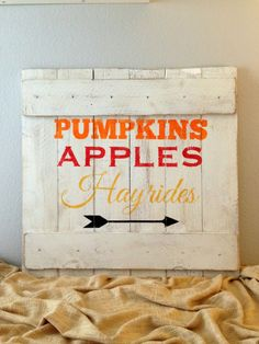 Distressed Wooden Fall / Autumn Rustic Sign - Handmade Seasonal Wall Decor - Rustic Reclaimed Wood