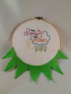 Ode to Kermit by Amy Byrne-Henderson Embroidery Floss Projects, Embroidery Letters, Embroidery Needles, Embroidery Hoop Art, Beaded Embroidery, Cross Stitch Embroidery, Embroidery Designs, Cultural Crafts, Learning To Embroider
