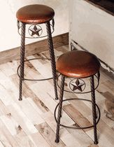 Buy Southwestern Bar Stools, Western bistro table and full-size Western bars at Lone Star Western Decor, your source for Western Bar Decor. Western Bar, Western Decor, Rustic Decor, Counter Height Chairs, Counter Stools, Texas Star Decor, Metal Bar Stools, Kitchen Decor, Kitchen Items