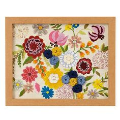 Natural History Framed Wall Art (Flowers) in Nature Wall Art | The Land of Nod