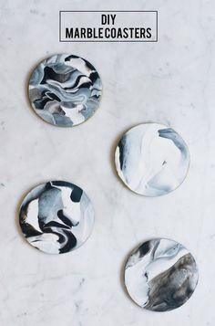 DIY Marble Coasters: