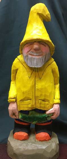 """Fishermen hand carved by Leif . Around 7"""" tall also know as Rufus!"""
