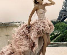 gorgeous #fashion #dress #feather