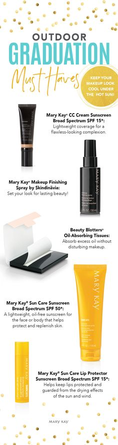 Graduation day outdoors? Don't sweat it. Keep your look smart with multitasking makeup and sun care that protects! | Mary Kay