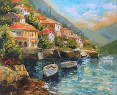 Sunny day Giclee print on canvas Print of original oil by IvMarART