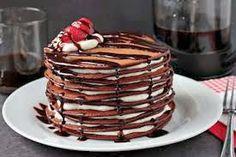 Im drooling! Chocolate, pancakes and cake : ). PanChocolate Pancake Cake by zoomyummy