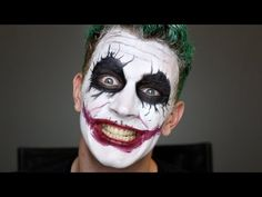The Joker (Heath Ledger) tutorial maquillaje - make up tutorial (With English subtitles) - YouTube