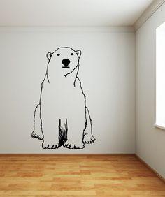 Vinyl Wall Decal Sticker Polar Bear #OS_MB735 | Stickerbrand wall art decals, wall graphics and wall murals.